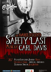 Harold Lloyd's 'Safety Last!' in concert in Bilbao - Poster