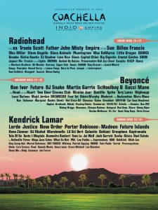 Coachella 2017 - Cartel