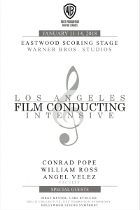 Los Angeles Film Conducting Intensive 2018 - Poster