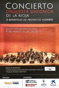 Concierto benéfico en Logroño - Poster