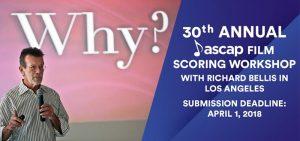 30th Edition of ASCAP Film Scoring Workshop - Banner