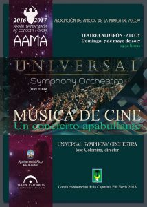 Universal Symphony Orchestra - Alcoy - Poster