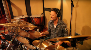 Brian Tyler playing drums