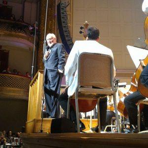 John Williams addressing the audience