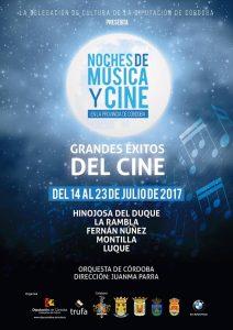 Noches de Música y Cine en la provincia de Córdoba - Cartel