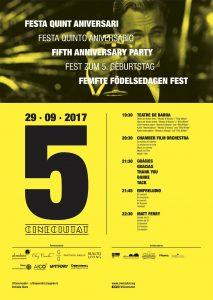 CineCiutat 5th Anniversary - Poster