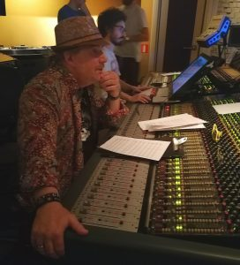 Christopher Young supervising the recording sessions