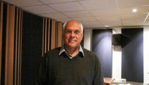 Trevor in his studio