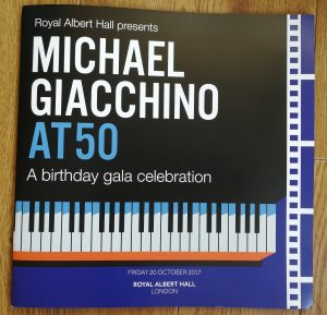 Michael Giacchino at 50 - Program Cover