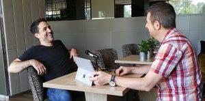 Gorka Oteiza interviewing Mac Quayle