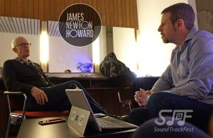 Gorka Oteiza entrevistando a James Newton Howard