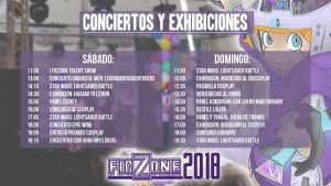 FicZone2018 - Horarios