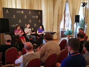 Film Music Prague 2018 - Conferences - Daniel Pemberton, Ilan Eshkeri & Eleni Mitsiaki