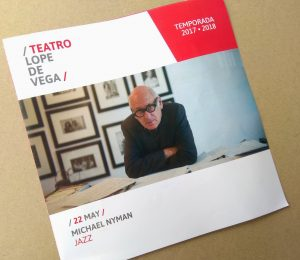 Michael Nyman in Seville 2018 - Hand Program
