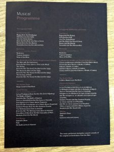 Ennio Morricone - Rome 2018 - Program (Back)