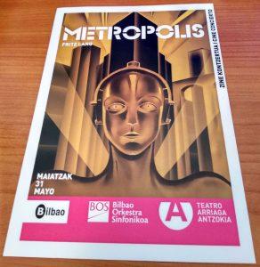 Metropolis in Concert - Hand program