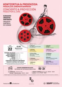 Concert 'Paseo por el Cine' at the San Sebastian Festival 2018 - Program