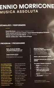 Ennio Morricone - Prague Proms 2018 - Program