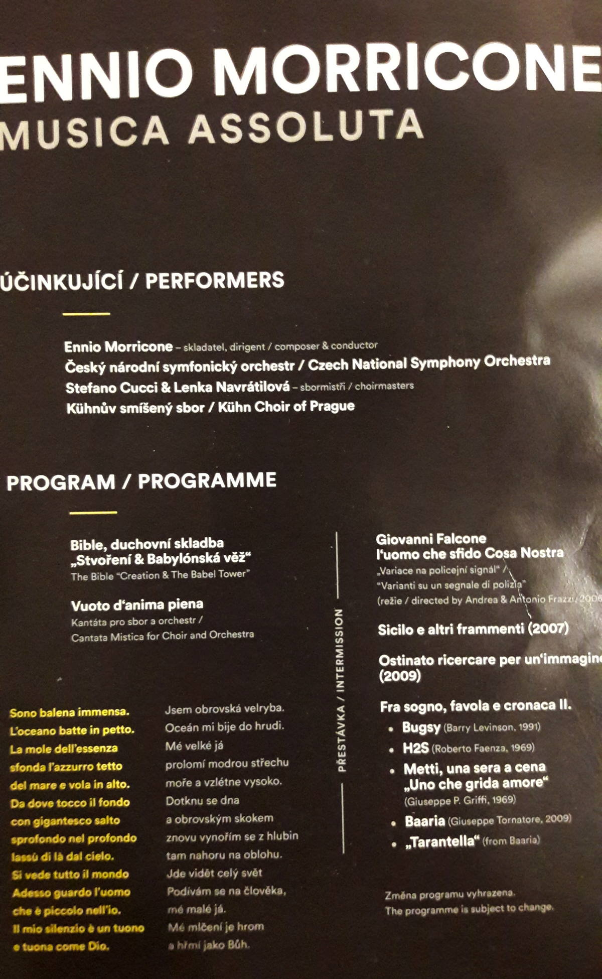 Ennio Morricone – Prague 2018 – Prague Proms – SoundTrackFest