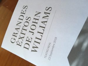 Concierto Grandes Éxitos de John Williams - Portada programa
