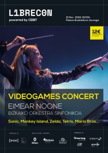 Librecon Videogames Concert with Eimear Noone in Bilbao (Spain) - Poster