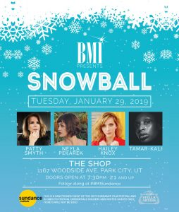 BMI Sundance 2019 - Snowball Showcase