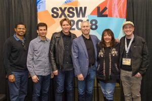 "Doreen Ringer-Ross y otros ejecutivos de BMI con el compositor Tyler Bates antes del panel ""The Value of Music in the Gaming World"" en SXSW 2018"