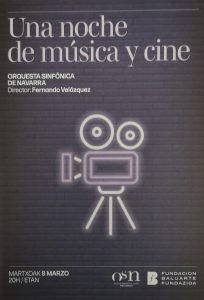 Concert 'A Night of Music and Cinema' - Printed program