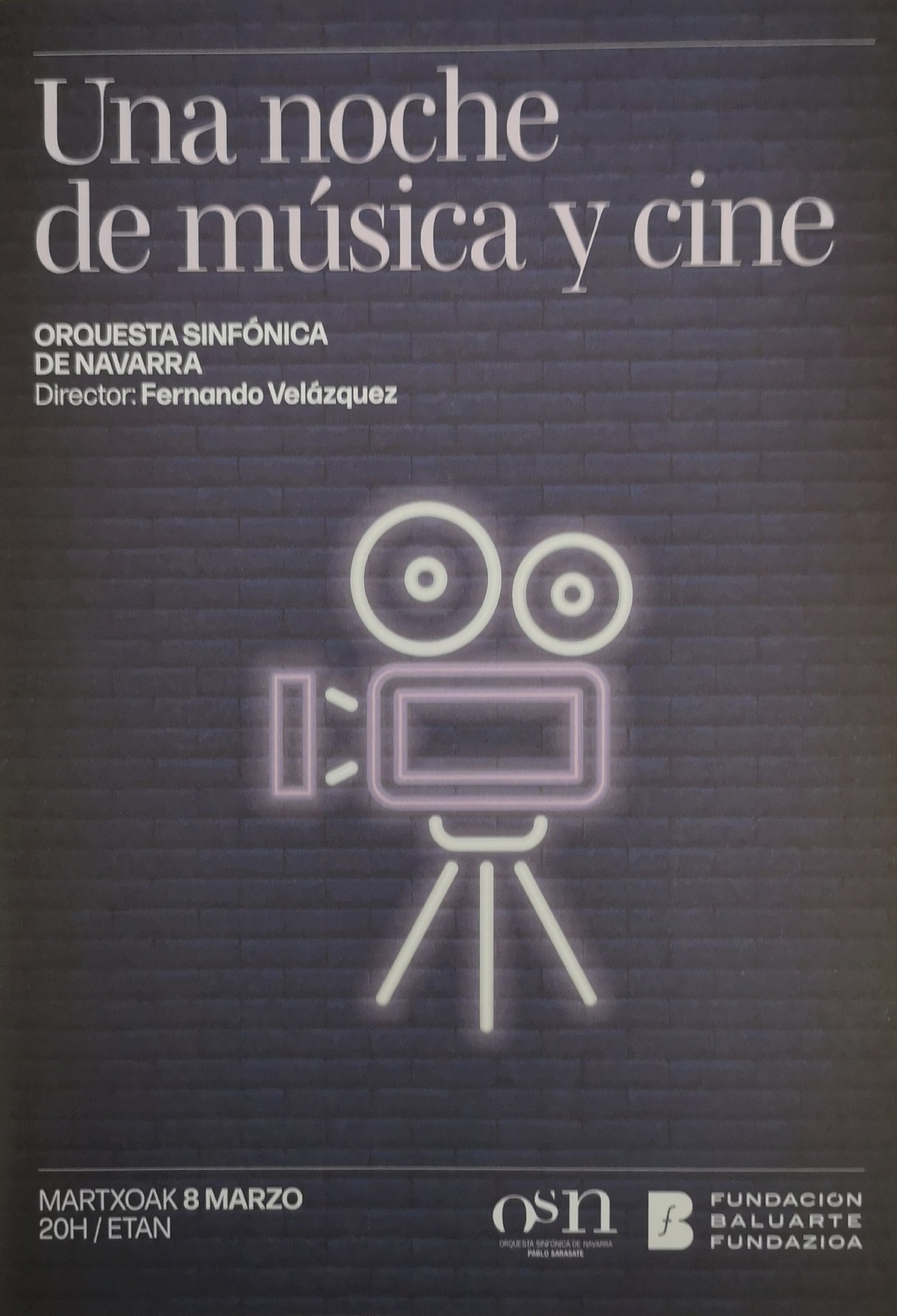 Fernando Velázquez and the OSN – Concert 'A Night of Music and