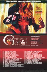 Claudio Simonetti & Goblin - 'Deep Red / Profondo Rosso' concert tour - 2019