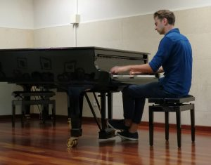 Ben & Nick Foster - Interview - Ben Foster playing piano