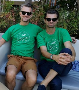 Ben & Nick Foster - Interview - Nick & Ben Foster with SoundTrackFest's T-Shirt