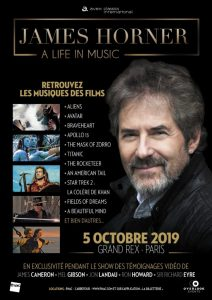 Concierto tributo 'James Horner: A Life in Music' en París - Poster