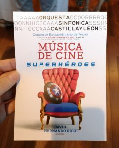 'Film Music – Heroes and Superheroes' - Concert Summary - Program - Front