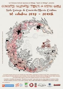 Charity concert 'Tribute to Studio Ghibli' in Malaga (Spain) - Poster