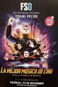 FSO 2019-2020 Tour - La Mejor Música de Cine en Concierto - Valencia - Poster