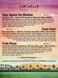 Coachella Festival 2020 - Cartel
