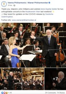 Announced the edition of the concert conducted by John Williams in Vienna by Deutsche Grammophon