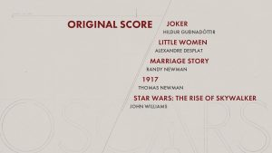 Oscars 92nd edition - Nominees - Original Score
