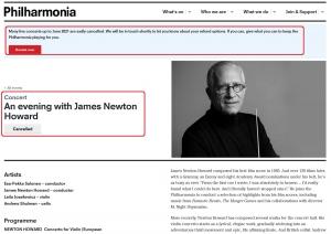 James Newton Howard en concierto en Londres en 2021 [CANCELADO]