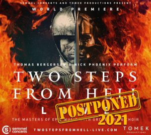 Two Steps From Hell - Thomas Bergersen & Nick Phoenix - Tour postponed to 2021