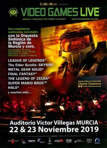 Video Games Live y Entrevista con Tommy Tallarico - Murcia 2019 - Folleto - Frontal