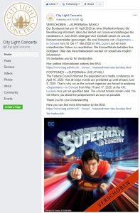 Superman in Concert - World premiere in 2020 [POSTPONED]