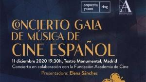 Spanish Film Music Gala Concert in Madrid in December - Banner