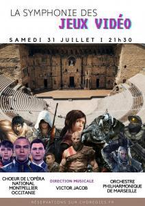 Concert 'La Symphonie des Jeux video/The Symphony of Video Games' at the Théâtre Antique d'Orange