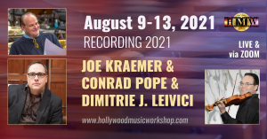 August 9-13 - Conrad Pope, Joe Kraemer, Dimitrie Leivici - Professional recording session [LIVE IN BADEN / ZOOM]