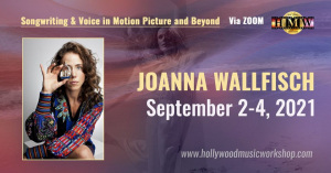September 2-4 - Joanna Wallfisch - Songwriting & Voice in Motion Picture and Beyond [ZOOM + POSTPONED]