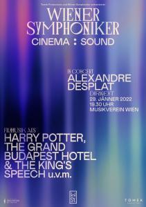 Alexandre Desplat - Wiener Symphoniker - Enero 2022 - Poster