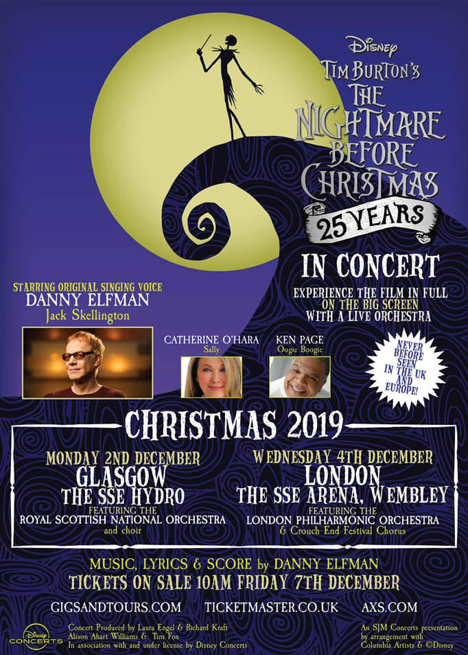 Christmas Concerts 2019 Near Me The Nightmare Before Christmas in Concert with Danny Elfman comes